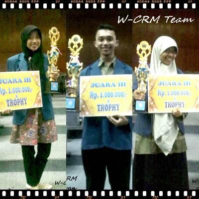 Alhamdulilah..sebagai juara III dalam lomba design produk tingkat nasional