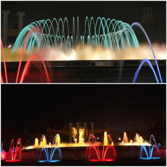 The Montjuic Magic Fountain di Barcelona saat winter trip 23 Desember 2014