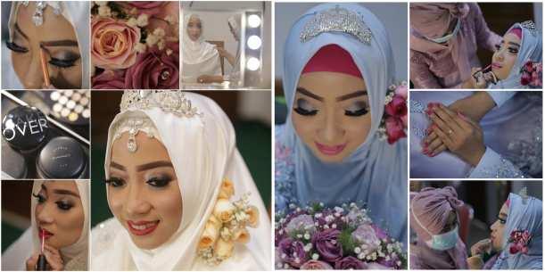 Proses dan hasil make-up dari Afaareen Saufa MUA saat Akad Nikah dan Resepsi